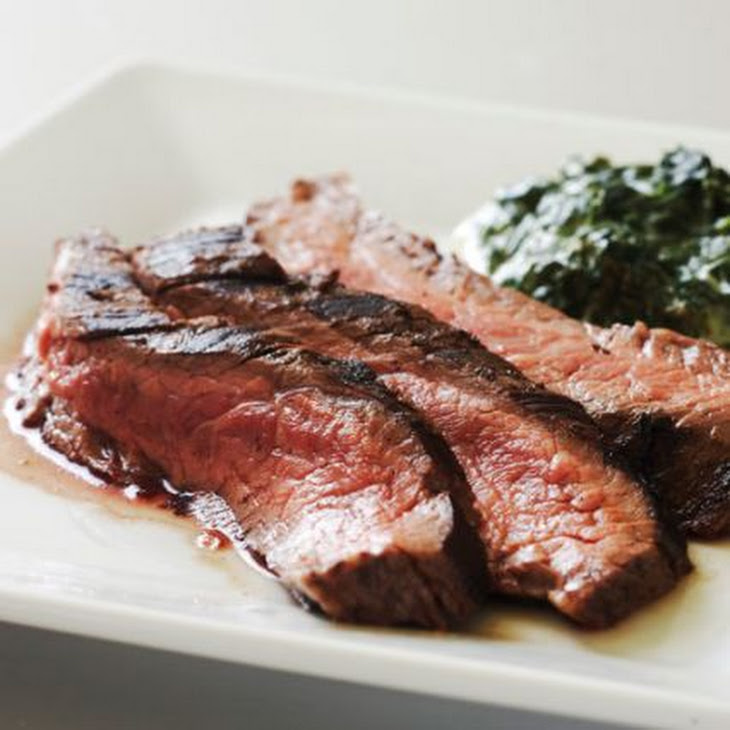 Rosemary Flank Steak with Balsamic Glazed Onions Recipe | Yummly