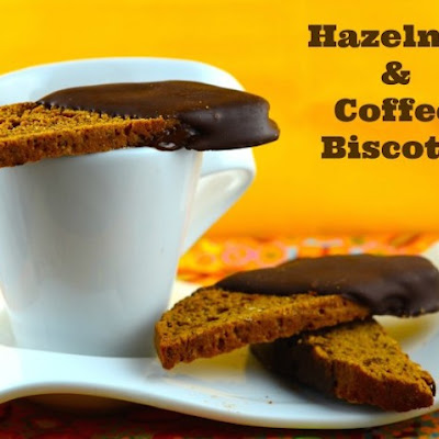 Hazelnut and Coffee Chocolate Dipped Biscotti