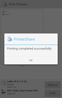 Screenshot of PrinterShare™ Mobile Print