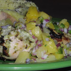 Caribbean Chicken With Pineapple Salsa....
