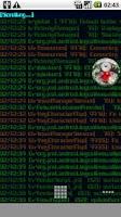 Screenshot of Logcat Live Wallpaper