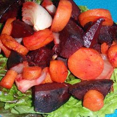 Spicy Beet and Carrot Salad