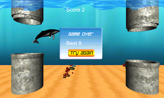Screenshot of Flappy Whale