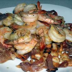 Roasted Shrimp, Potatoes and Prosciutto