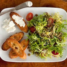 Lentil Salad with Goat Cheese Crostini Recipe
