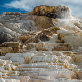 by Matt Reynolds - Landscapes Travel ( yellowstone, mammoth hot springs )