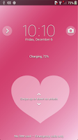 Screenshot of Xperia™ theme Pink Hearts