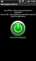 Screenshot of Wifi turn on, wifi turn off