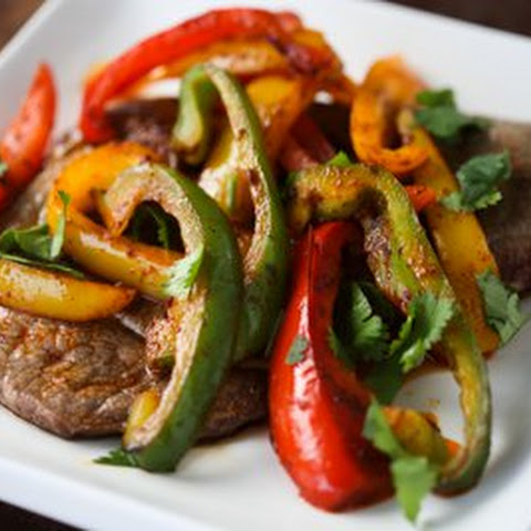 Sirloin Steak with Fajita Spiced Peppers