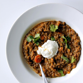Coconut Curried Sweet Potato and Lentil Stew