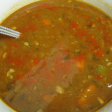 Low Fat Spicy Lentil Soup (Vegetarian Too!)