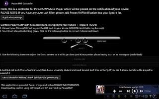 Screenshot of PowerAMP Status Bar Controller