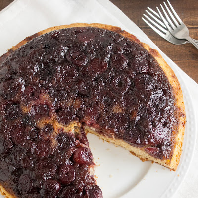 Cherry-Cornmeal Upside-Down Cake