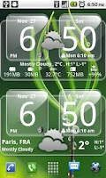 Screenshot of Sense Analog Glass Clock 4x2