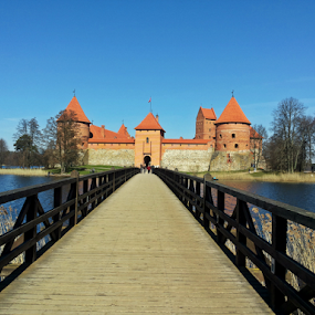 by Monika Norvaisaite - Novices Only Landscapes ( holiday, water, trakai, castle, lithuania, bridge, spring )