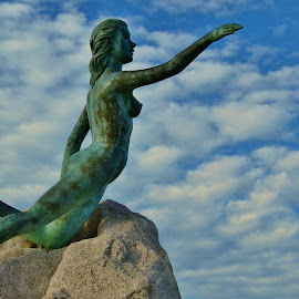 Blue Water Maiden II by Thomas Barr - Buildings & Architecture Statues & Monuments