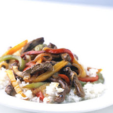 Mixed-Pepper Steak with Onions