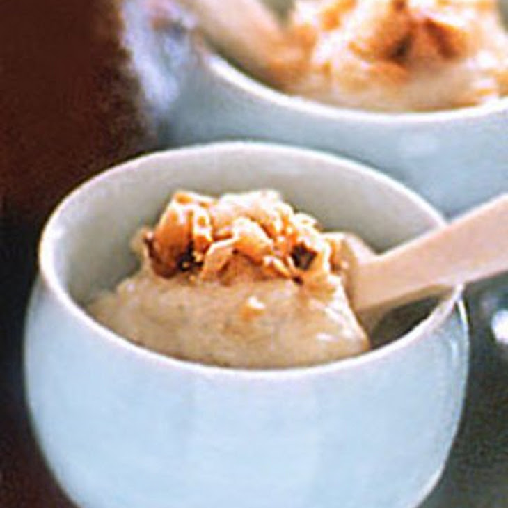 Rice Pudding with Macadamia Nut Topping