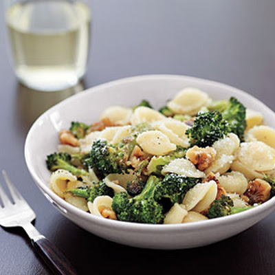 Orecchiette with Roasted Broccoli and Walnuts