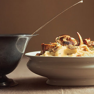 Mashed Potatoes and Celeriac with Wild Mushrooms