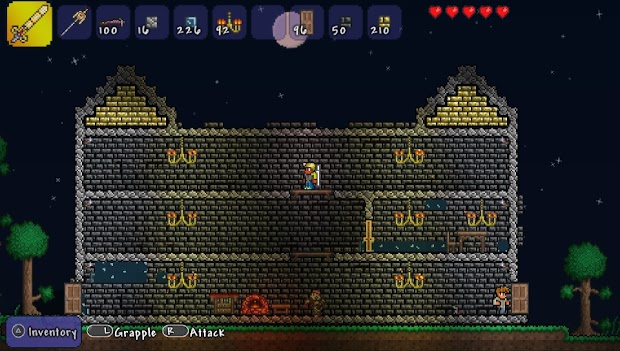 Terraria hits the PS Vita today