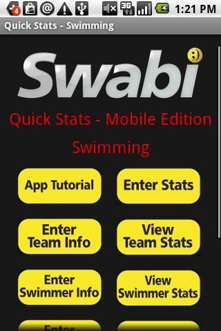 Quick Stats for Swimming
