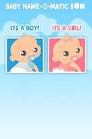 Screenshot of Baby Name-o-Matic