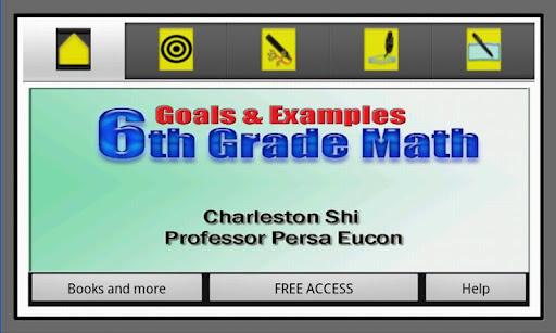 6th Grade Math Goals Examples