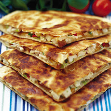 Chicken, Red Pepper And Smoked Mozzarella Quesadillas