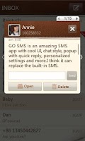 Screenshot of GO SMS Pro SimplePaper theme