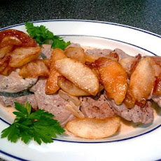 Pork Tenderloin With Apples, Calvados and Apple Cider
