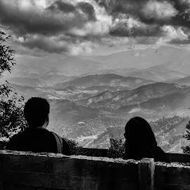 Hills and Mountains Between Us by Darrell Champlin - People Couples