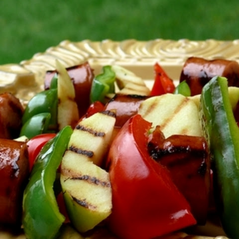 Kielbasa-Apple Kebabs