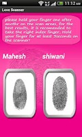Screenshot of Finger Scanner to test ur Love