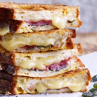 Fontina, proscuitto and sage-stuffed French toast
