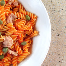Pressure Cooked Pasta with Tuna and Capers (pasta al tonno) - one pot meal