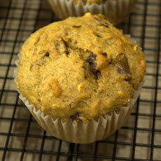 Healthy Oatmeal Banana Chocolate Muffins