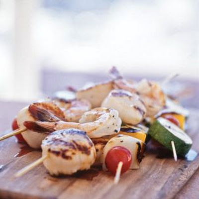 Shellfish & Vegetable Skewers
