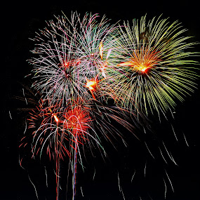Happy July 4 by Rajeev Krishnan - Public Holidays July 4th ( fireworks, independence day, public holiday, july 4,  )