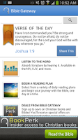 Screenshot of Bible Gateway