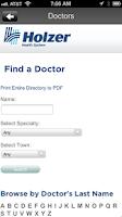 Screenshot of Holzer Health System