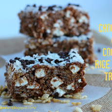 Chocolate and Coconut Rice Krispies Treats