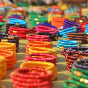 by Neha Neekhra - City,  Street & Park  Markets & Shops ( red, purple, green, bangles, yellow )