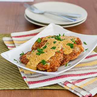 Almond Crusted Pork Chops with Mustard Sauce