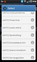 Screenshot of Mobile Webasto Remote CALL+