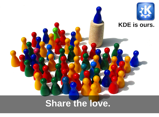 Share the love: KDE is ours