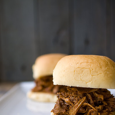 Chipotle Bourbon Barbecue Pulled Pork Sliders
