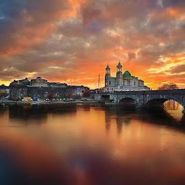 Sunset at Athlone by Oliver Almazan - City,  Street & Park  Vistas