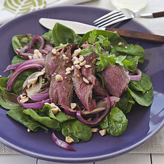 Grilled Asian Steak and Spinach Salad