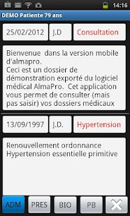 AlmaPro version mobile - screenshot
